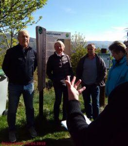 Lorraine Chenot et les élus en visite à Brion